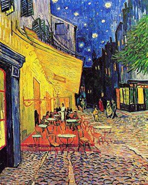 Pittura Van Gogh Terrazza del caffè la sera