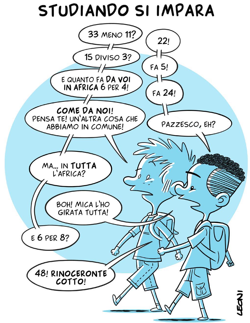 Leoni vignetta Prisma Magazine