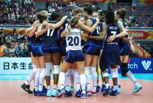 La nazionale azzurra di volley femminile
