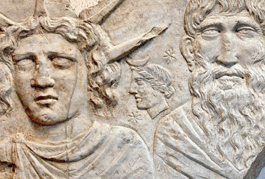 Una scultura dedicata al Sol Invictus